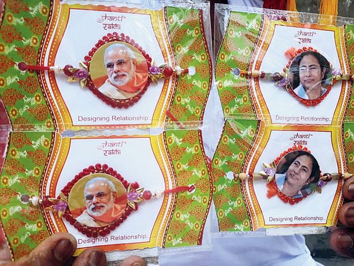 Mamata versus Modi in rakhi rivalry