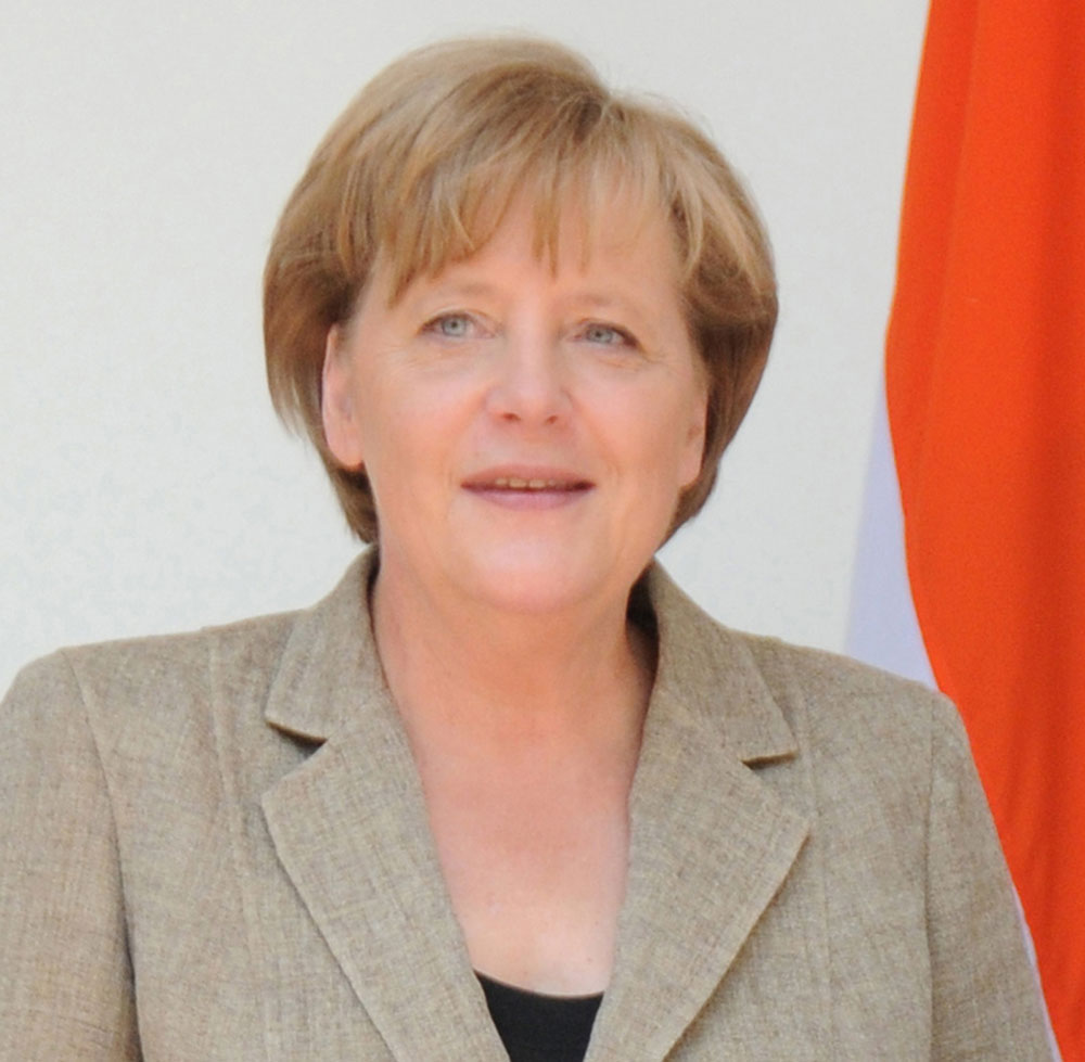 Angela Merkel is the chairwoman of conservative Christian Democrats (CDU)