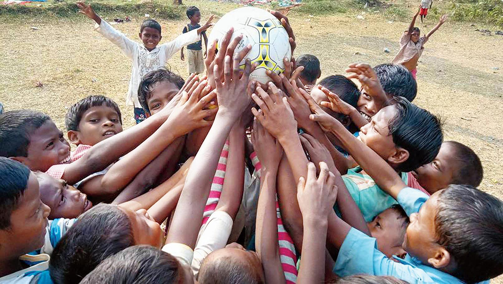 Students of Puncha Nabadisha Model School at play during their recess.