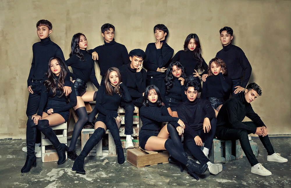 Z-Stars is a 14-member K-pop group comprising Z-Girls and Z-Boys. The members are from Japan, the Philippines, Thailand, Taiwan, India, Vietnam, and Indonesia