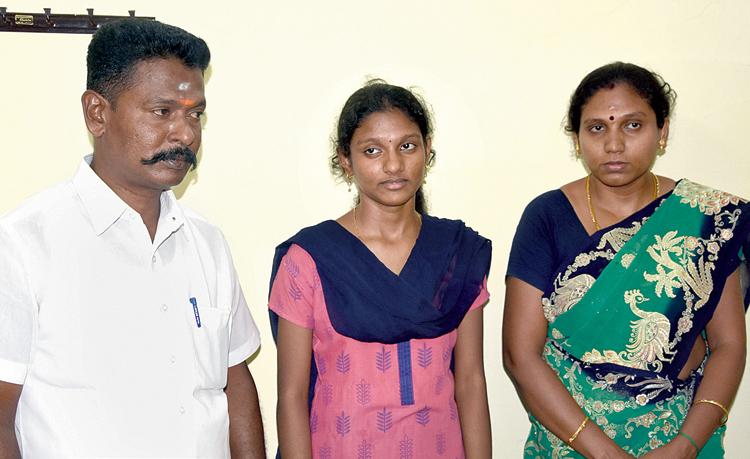 Nethra (center)