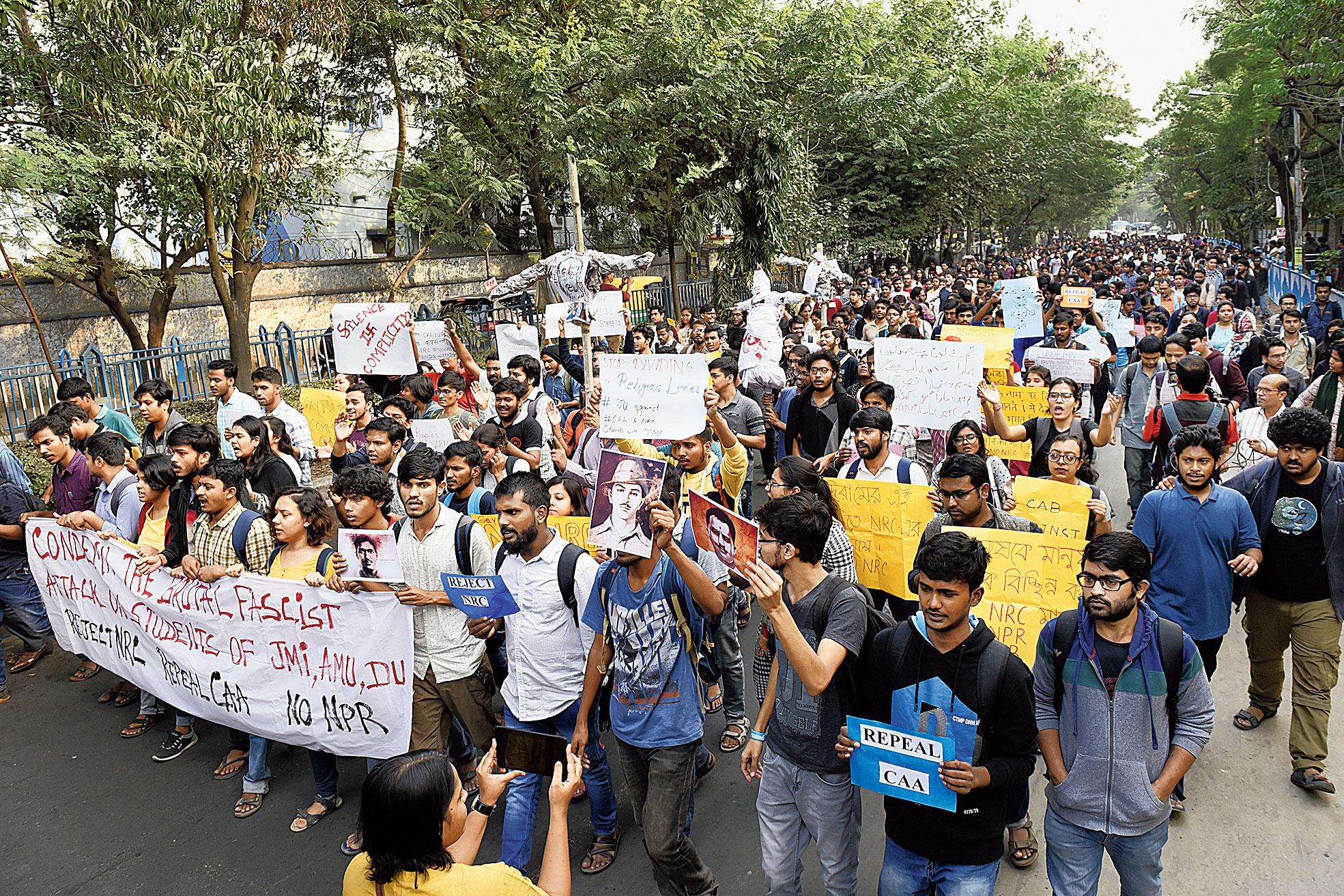 IN JADAVPUR: Calcutta displays its campus power