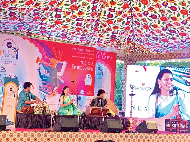 Nirali Kartik performs at JLF 2020
