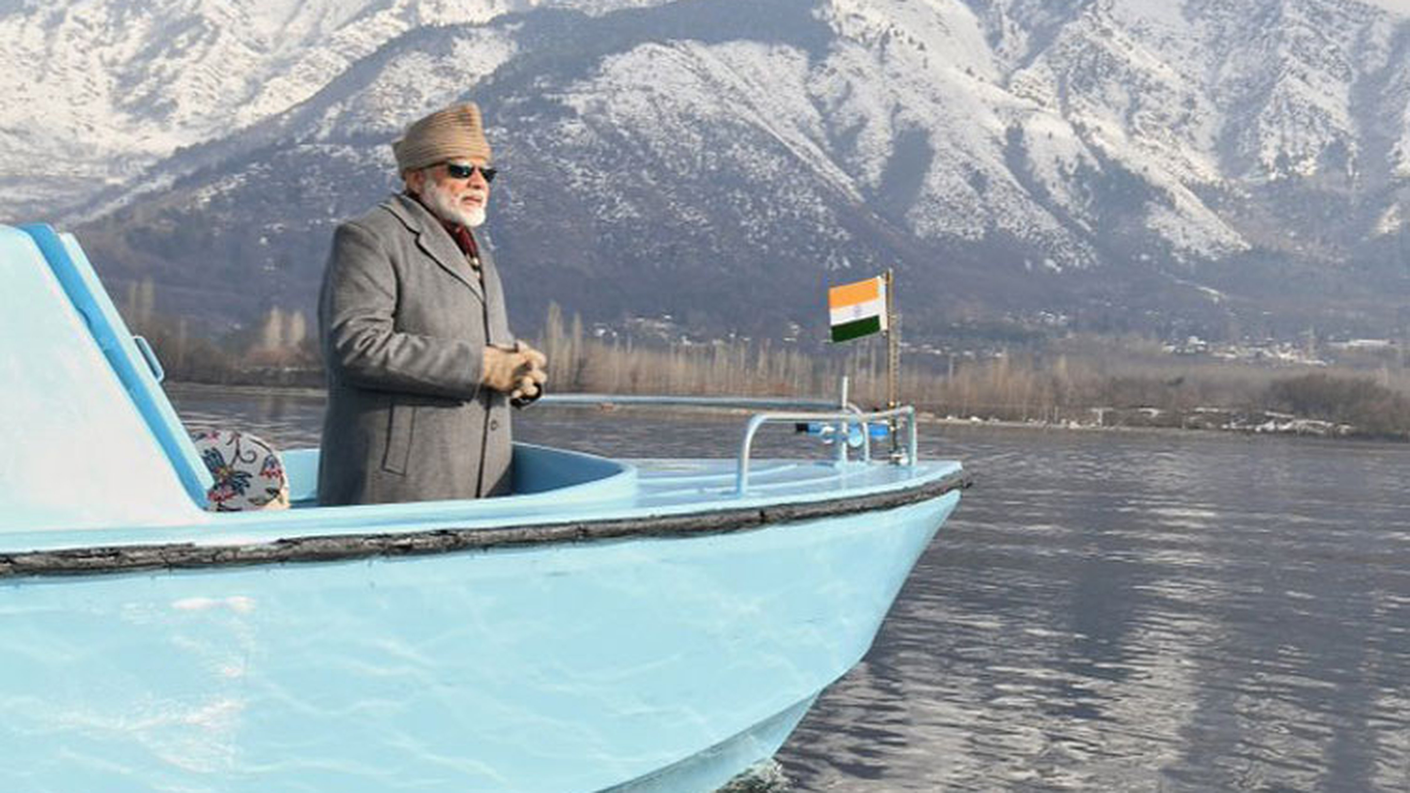 Narendra Modi had allegedly been looking at mountains, not civilians, during a boat ride in troubled Kashmir — yet, he could not help waving at them. Perhaps the man did, for a moment, believe that the mountains, unlike a disenchanted people, would wave back at him