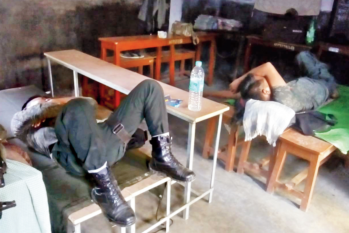Central force personnel caught napping