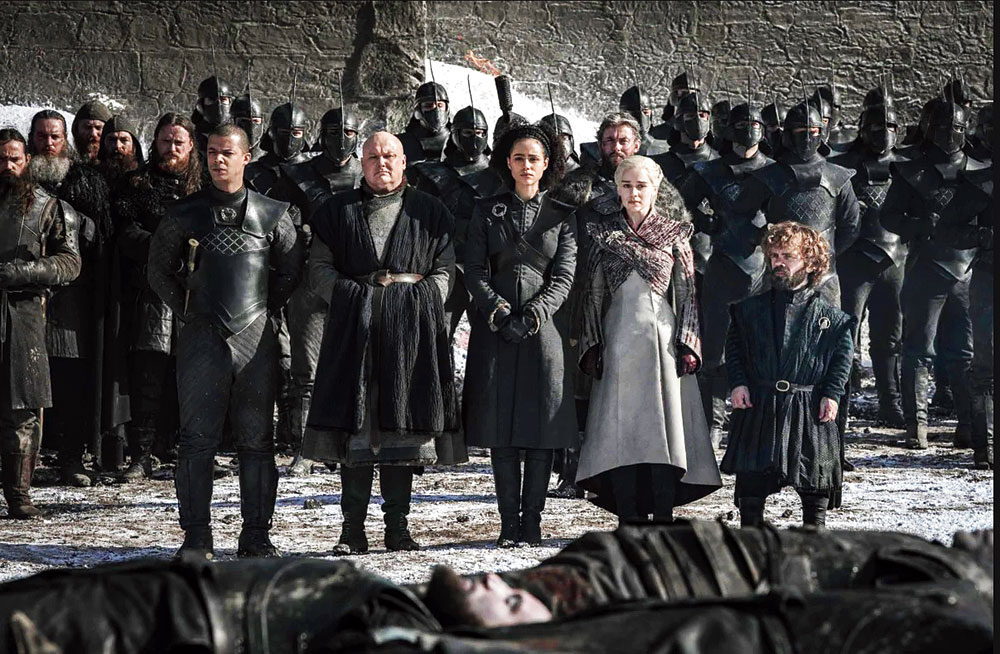 Winterfell mourns the thousands who died at war with the army of the dead