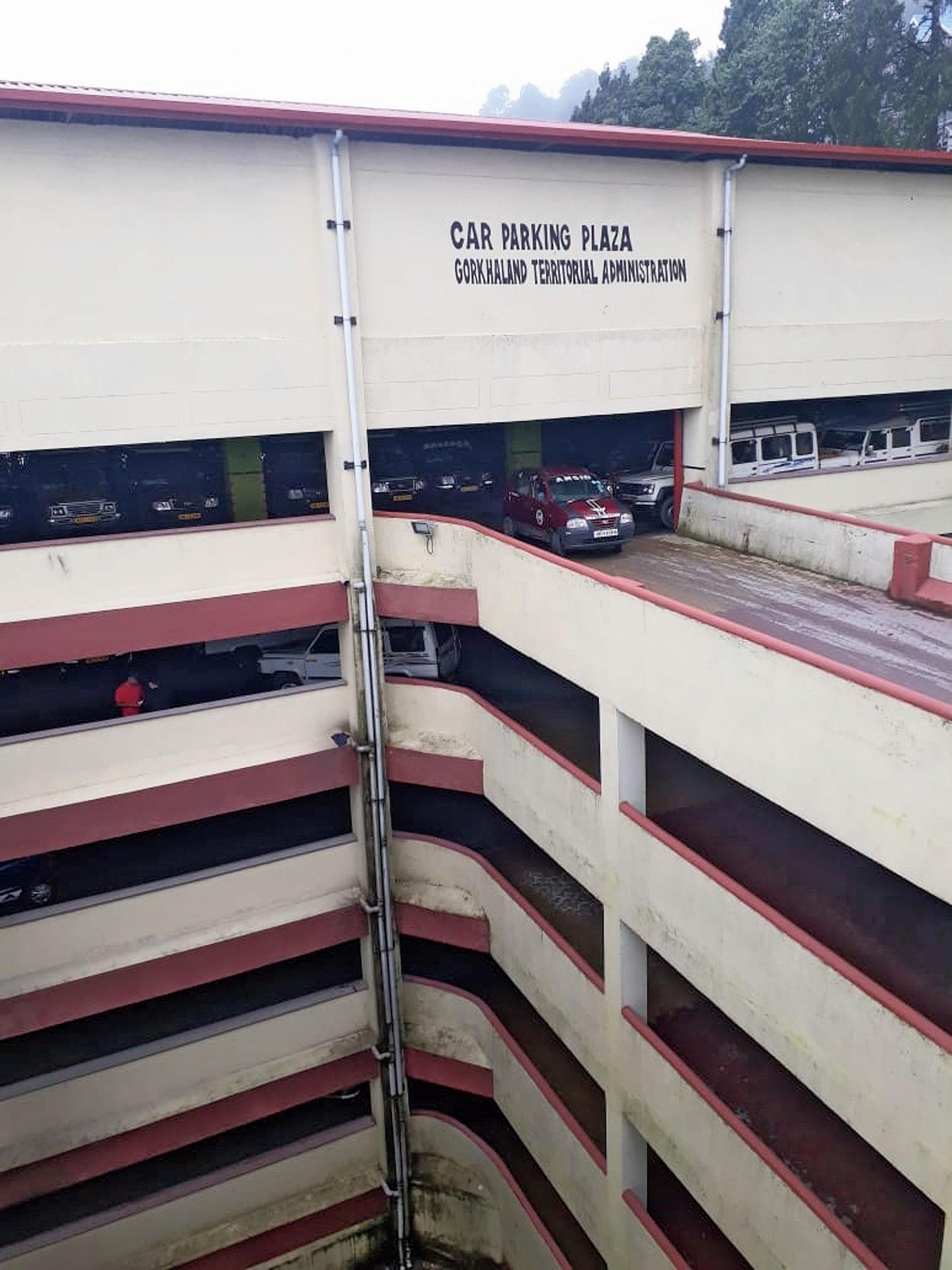 A parking lot at Singamari in Darjeeling.