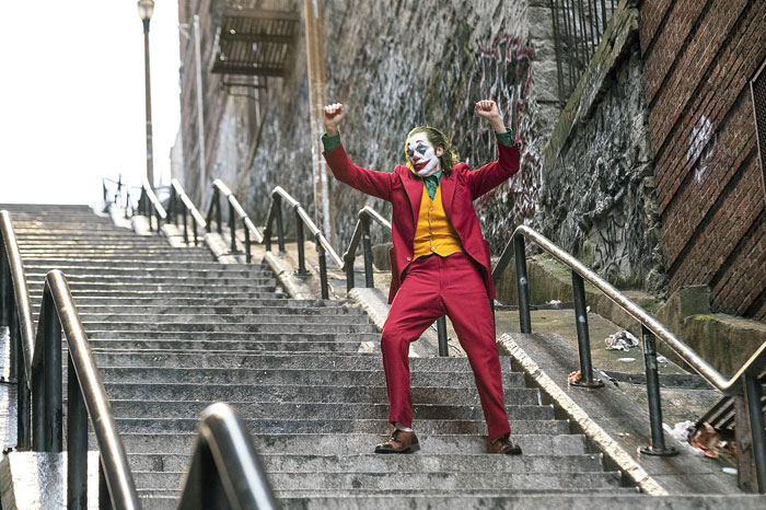 The origin story of the Clown Prince of Crime stars multiple Oscar nominee Joaquin Phoenix in the titular role for this year's Oscar frontrunner Joker.