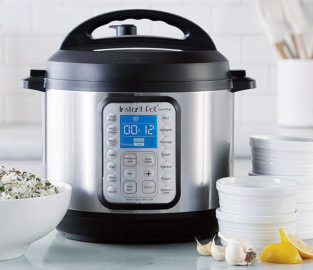 The Instant cooker is an electric cooker which can work like a pressure cooker, slow cooker, rice cooker, warming pot, saute pan, steamer and yoghurt maker