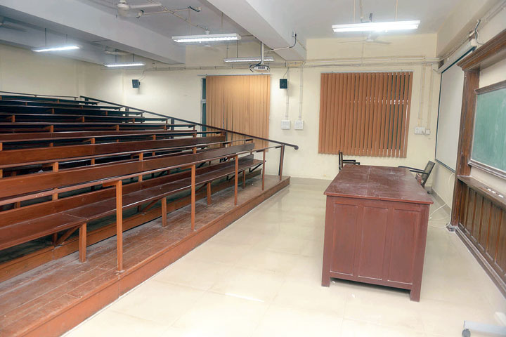 The hall where Abhijit Vinayak Banerjee delivered a lecture after he was made a member of the Presidency University mentor group