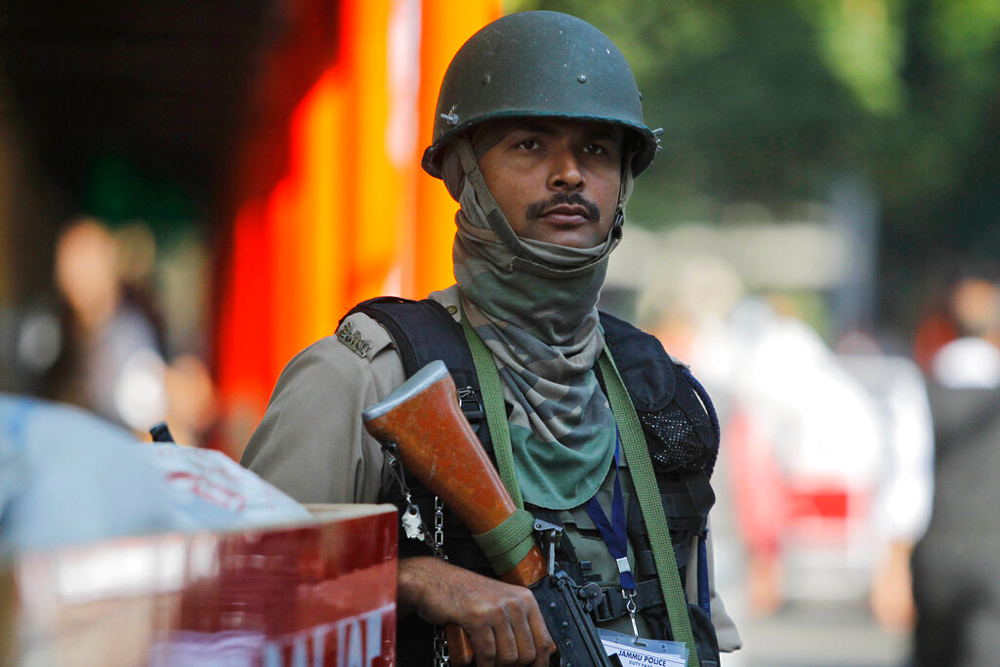 A paramilitary trooper in Jammu on Monday, November 4, 2019. Promised more jobs, more factories, what the Kashmiris instead have got since August 5 are more troops, more restrictions