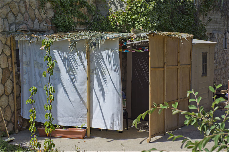 While there are several different traditions associated with Sukkot, the most common is building sukkah, or a makeshift hut with no roof