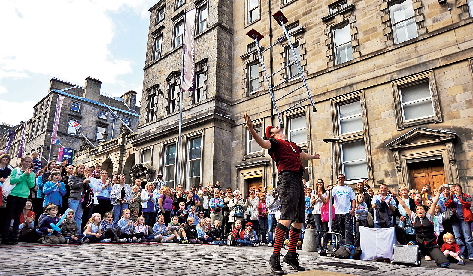 A moment from the Edinburgh Festival.