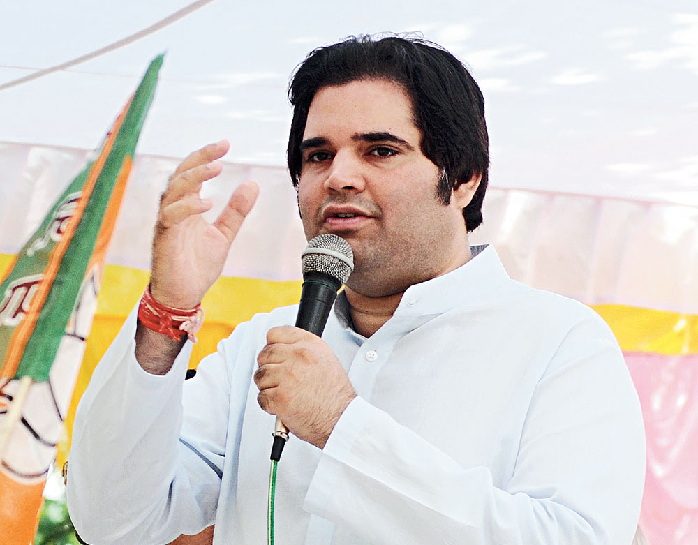 File picture of Varun Gandhi campaigning in Sultanpur in 2014