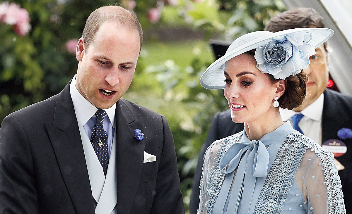 Prince William and Kate at the annual Royal Ascot horse race meeting on June 18.
