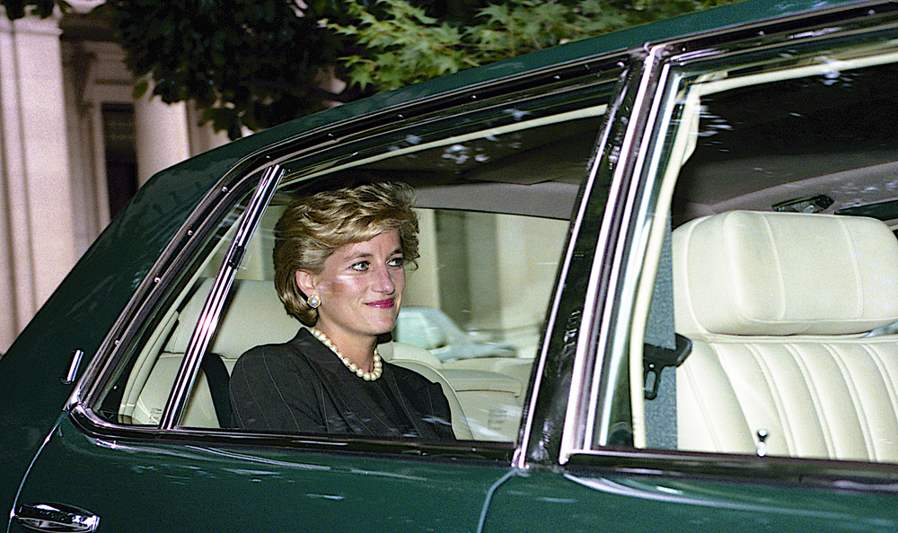 Princess Diana in Washington in 1996