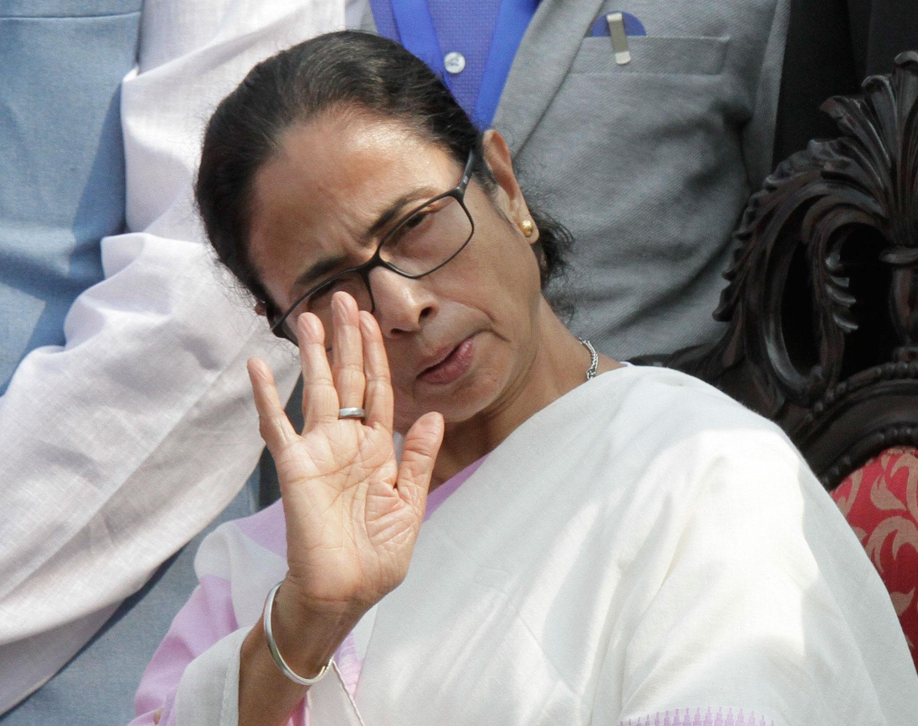Mamata Banerjee in Calcutta on November 22, 2019.