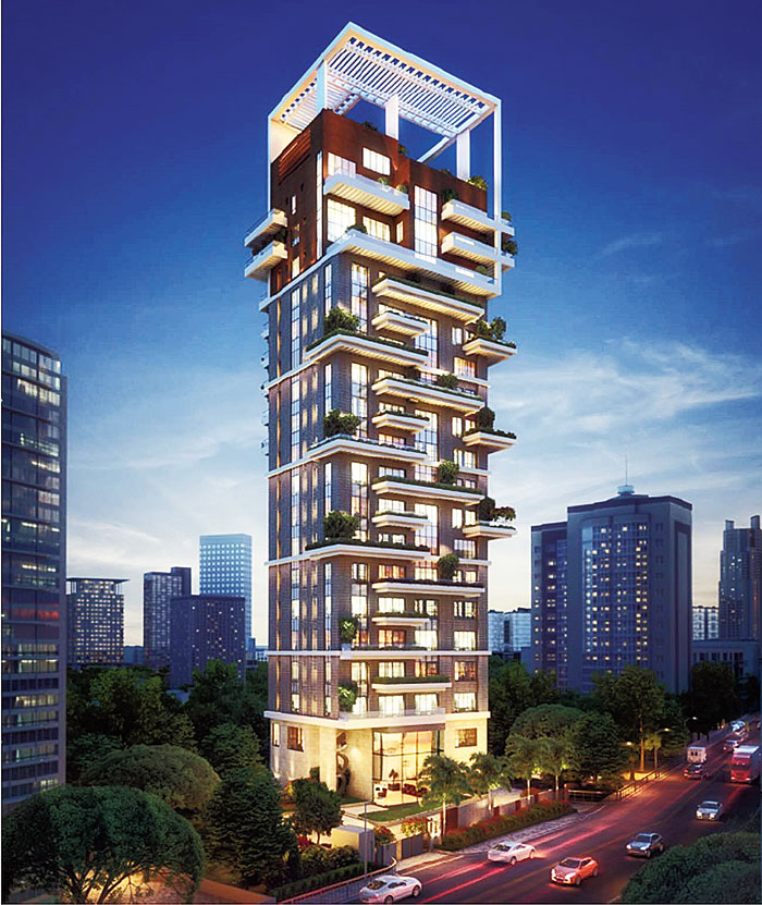 An artist's impression of the upcoming property on Ballygunge Circular Road