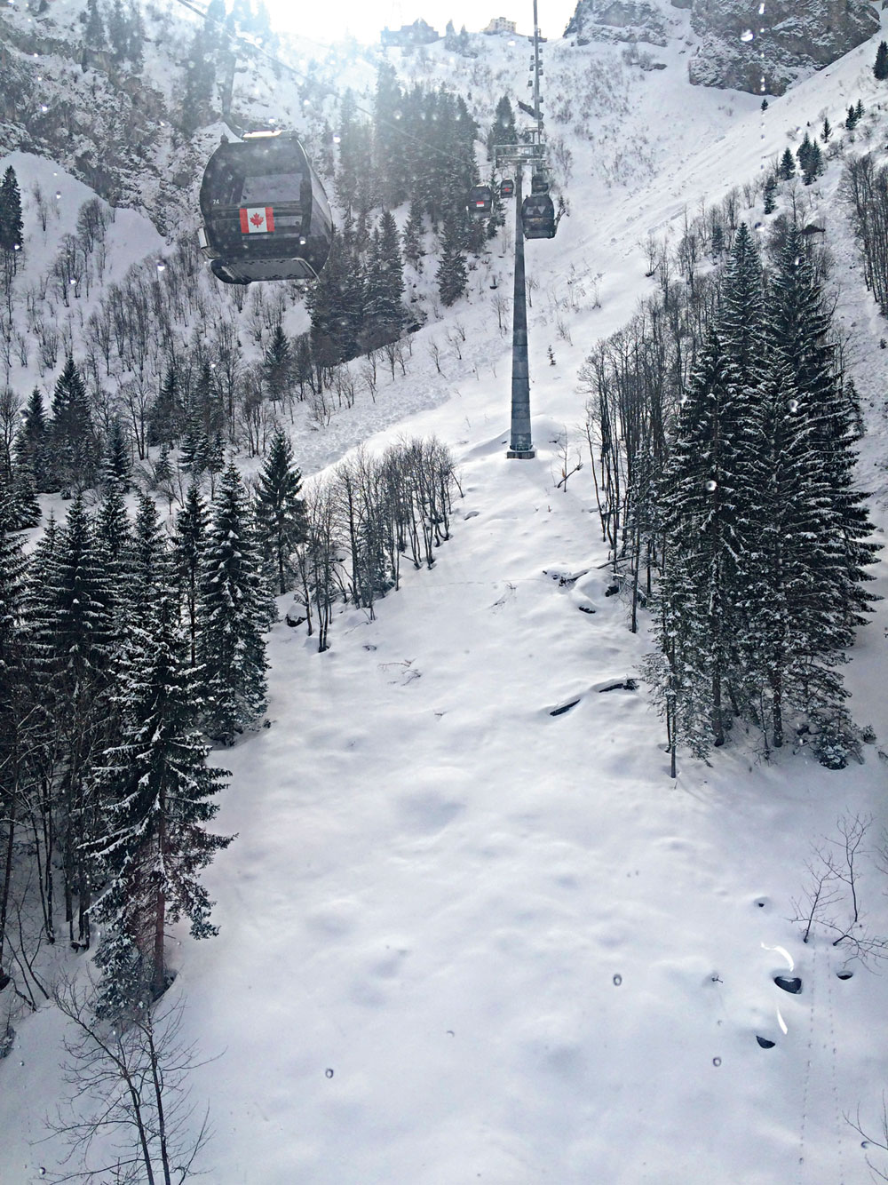 The cable car gives imposing views of the lofty Mount Titlis