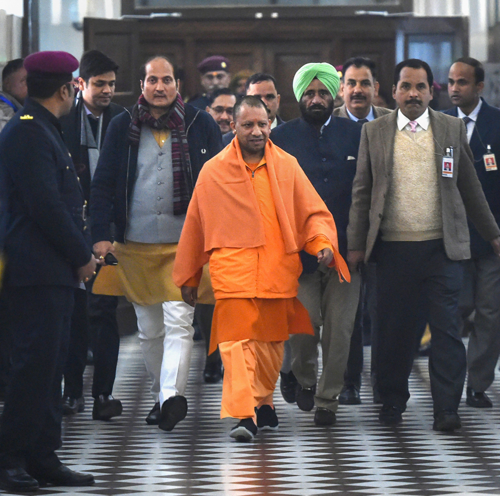 Yogi Adityanath at Lucknow's Vidhan Bhavan on December 31. The Uttar Pradesh chief minister has the habit of taking on himself and his government the role of police, judge and executioner
