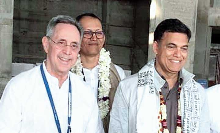 Alfred Ford and Sajjan Jindal in Mayapur