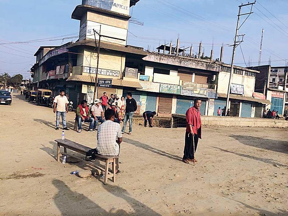 Dimapur during the shutdown.