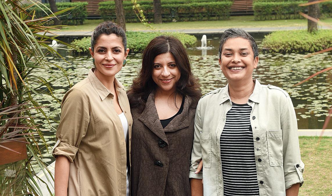 (L-R) Nitya Mehra, Zoya Akhtar and Reema Kagti at ITC Sonar, Calcutta