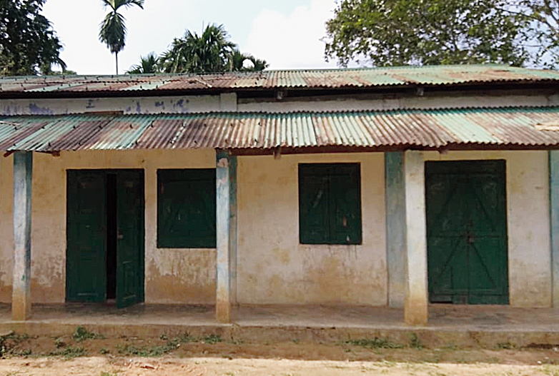 The Songadingre lower primary school at Dadenggre in West Khasi Hills