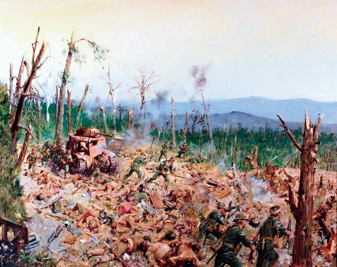 The Battle of Kohima, 1994, a painting by Terence Cuneo, in Kohima Museum.