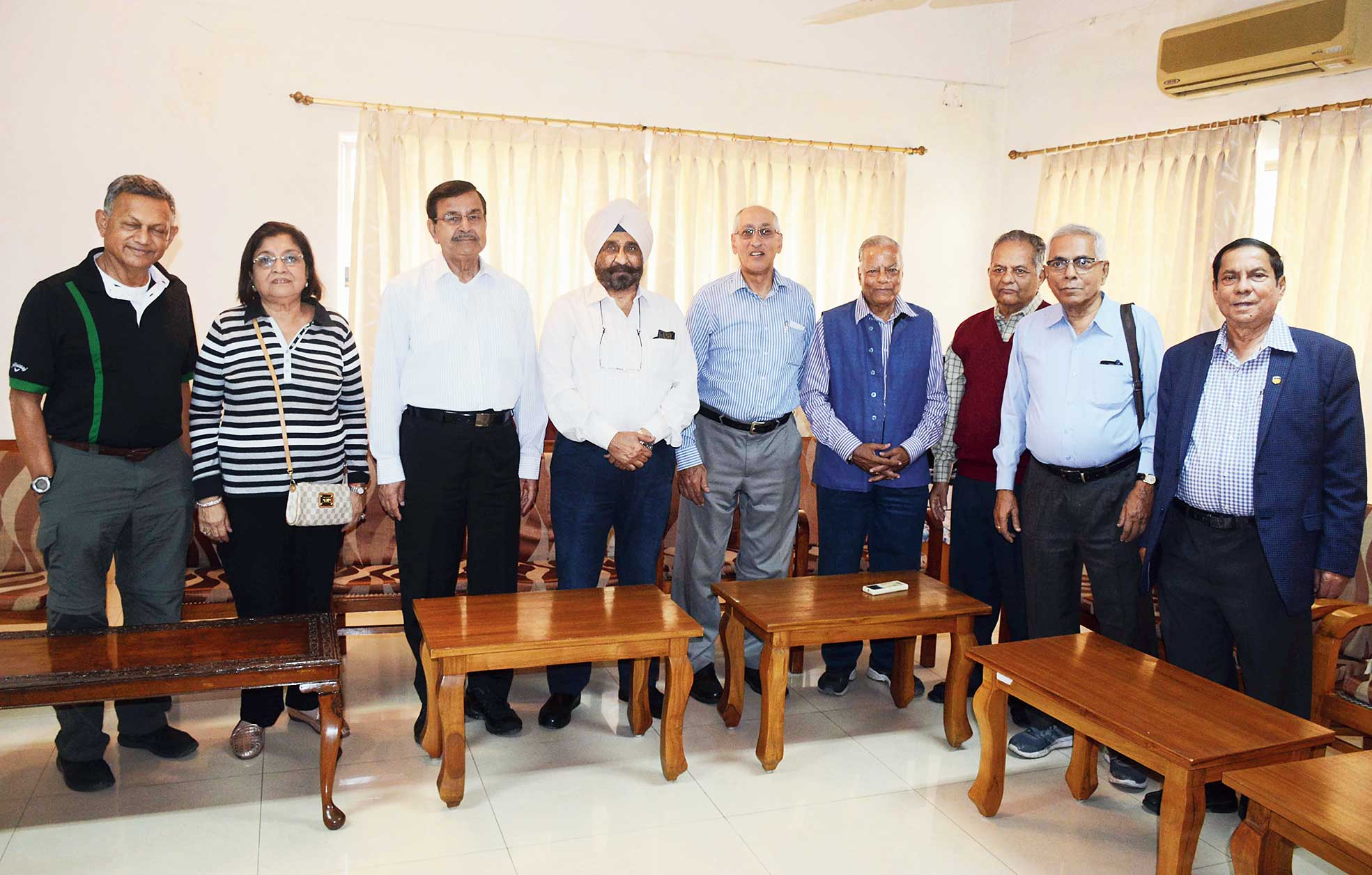 Former XLRI students, from the 1968 and 1970 batches, on the campus in Jamshedpur on Saturday.