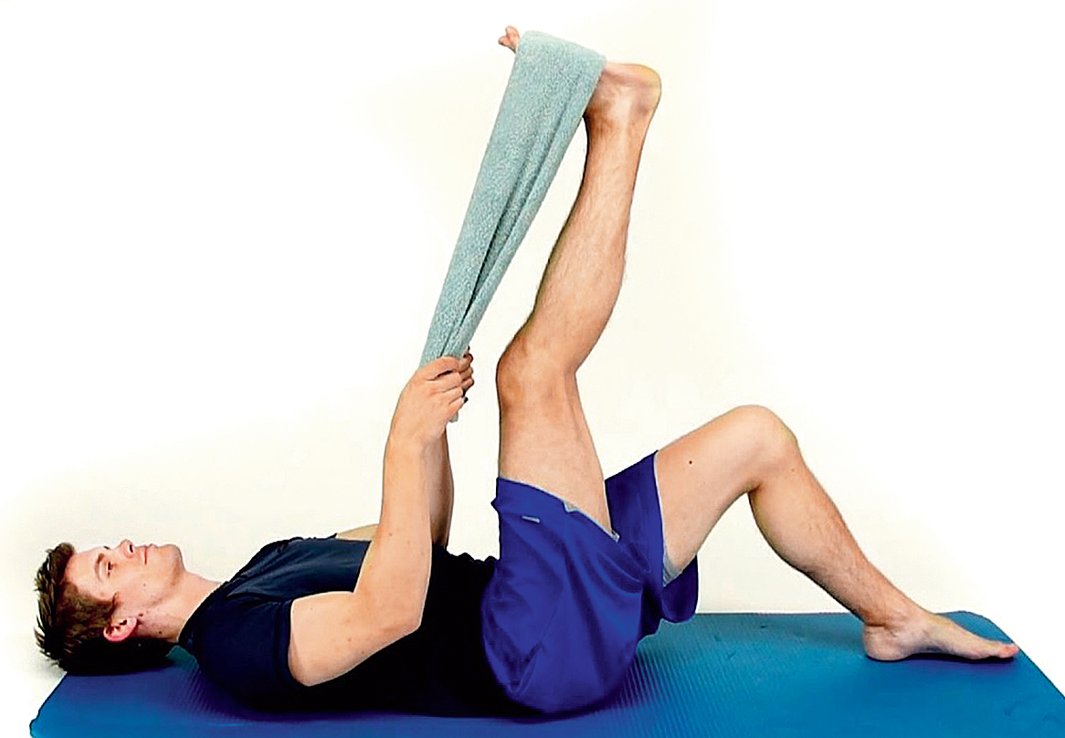 Towels can be used to help static stretch post-workout