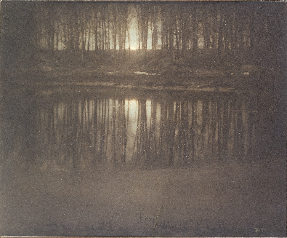 Edward J. Steichen, (American, b. Luxembourg, 1879–1973); The Pond — Moonrise, 1904; Platinum print with applied color; 15 ⅝ x 19 in. (39.7 x 48.2 cm)