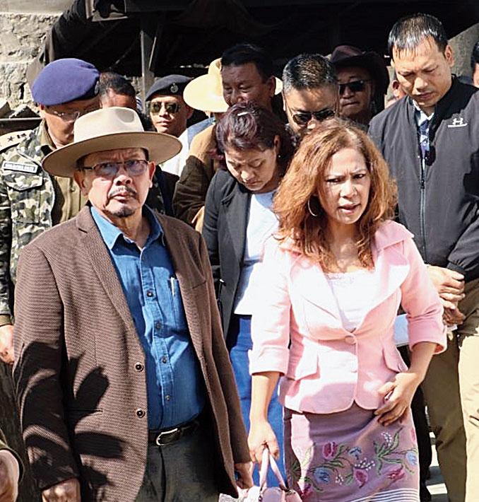 Mizoram home minister Lalchamliana at Kolasib district jail