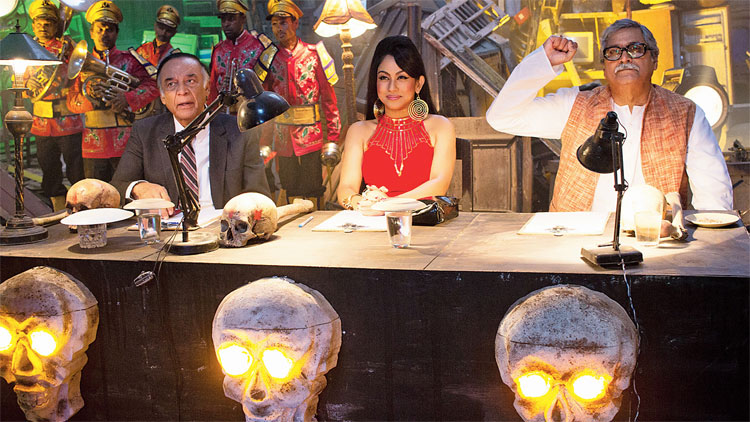 A still from the film Bhobishyoter Bhoot