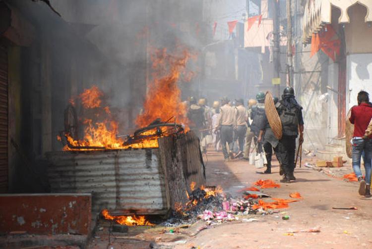 Violent clashes during Ram Navami processions in Raniganj in 2018.