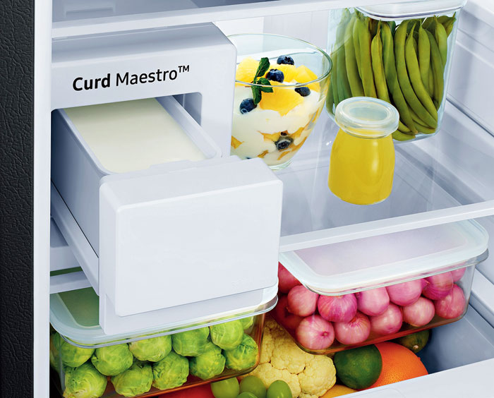 The compartment where curd is stored in Samsung's Curd Maestro