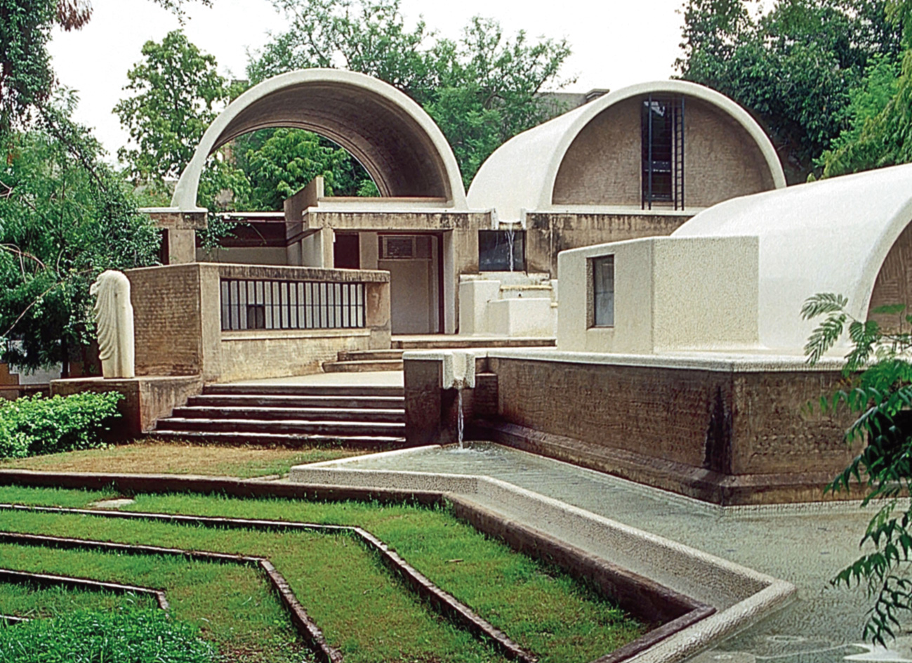 """Sangath Architect's Studio in Ahmedabad """"has become a sanctuary of culture, art and sustainability where research, institutional facilities and maximum sustainability are emphasised"""""""