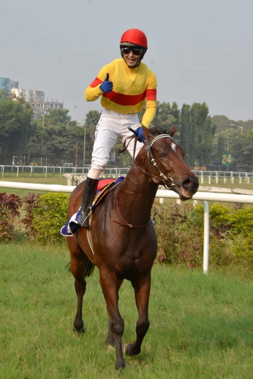 Christopher Alford, who has been Calcutta's champion jockey for seven consecutive years