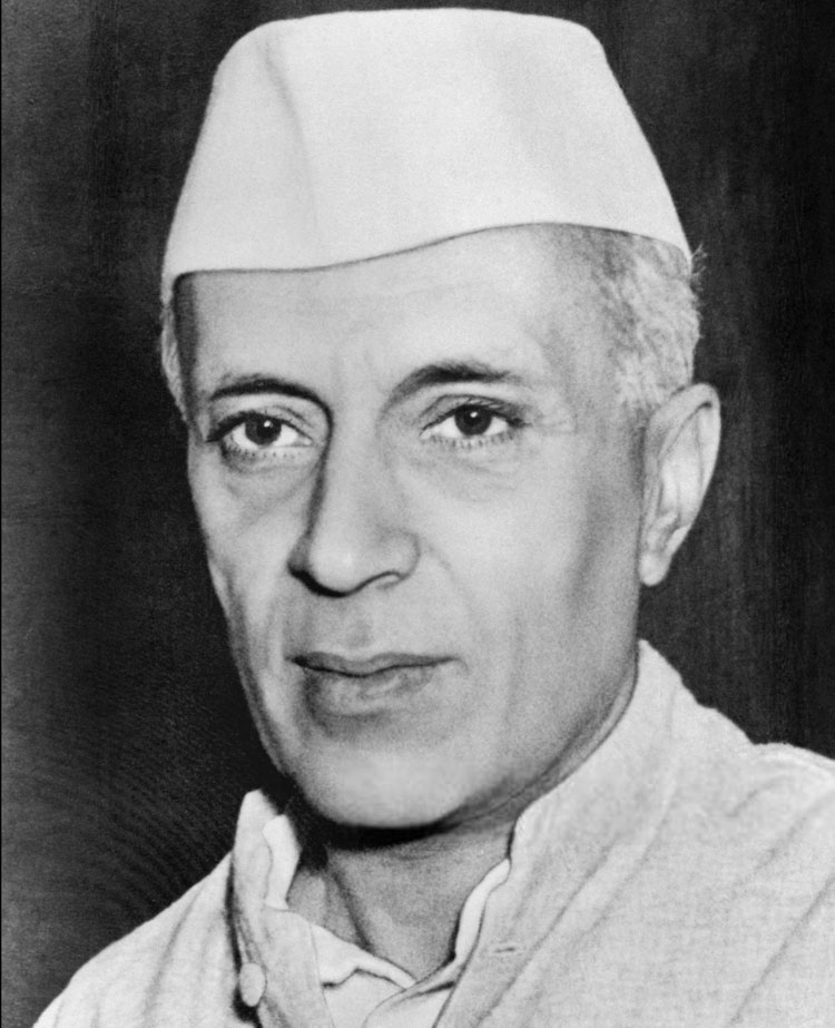 The first Prime Minister of India, Jawaharlal Nehru