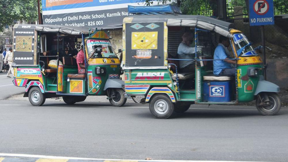 Auto-rickshaws on Luby Circular Road in Dhanbad