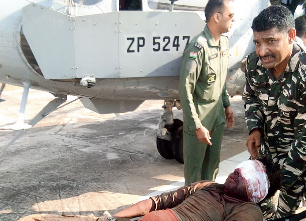 'Bloodied but composed' jawans in capital