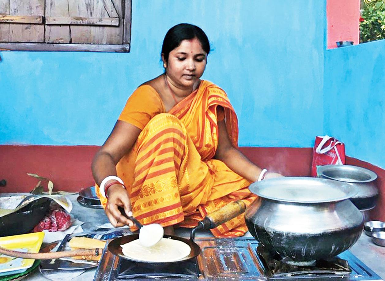 DAILY BREAD: In a kitchen in Madhovita in Darjeeling district