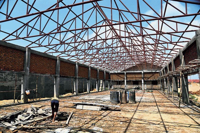 An under-construction detention centre in Assam's Goalpara district