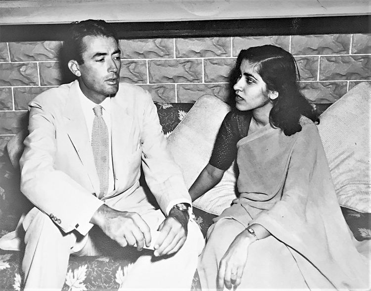 Gulshan Ewing with actor Gregory Peck