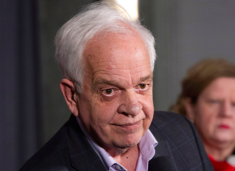 Canadian Ambassador to China, John McCallum, listens to a question following participation at the federal cabinet meeting in Sherbrooke, Quebec on Wednesday, Jan.16, 2019.