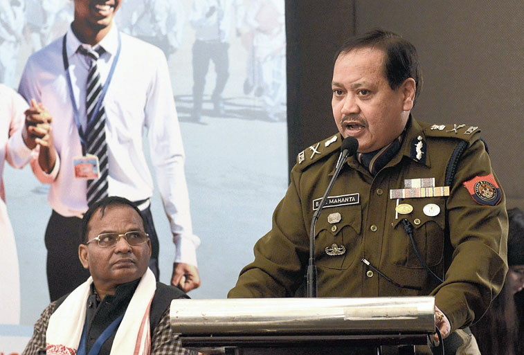 Assam DGP Bhaskar Jyoti Mahanta at the workshop  in Guwahati on Friday