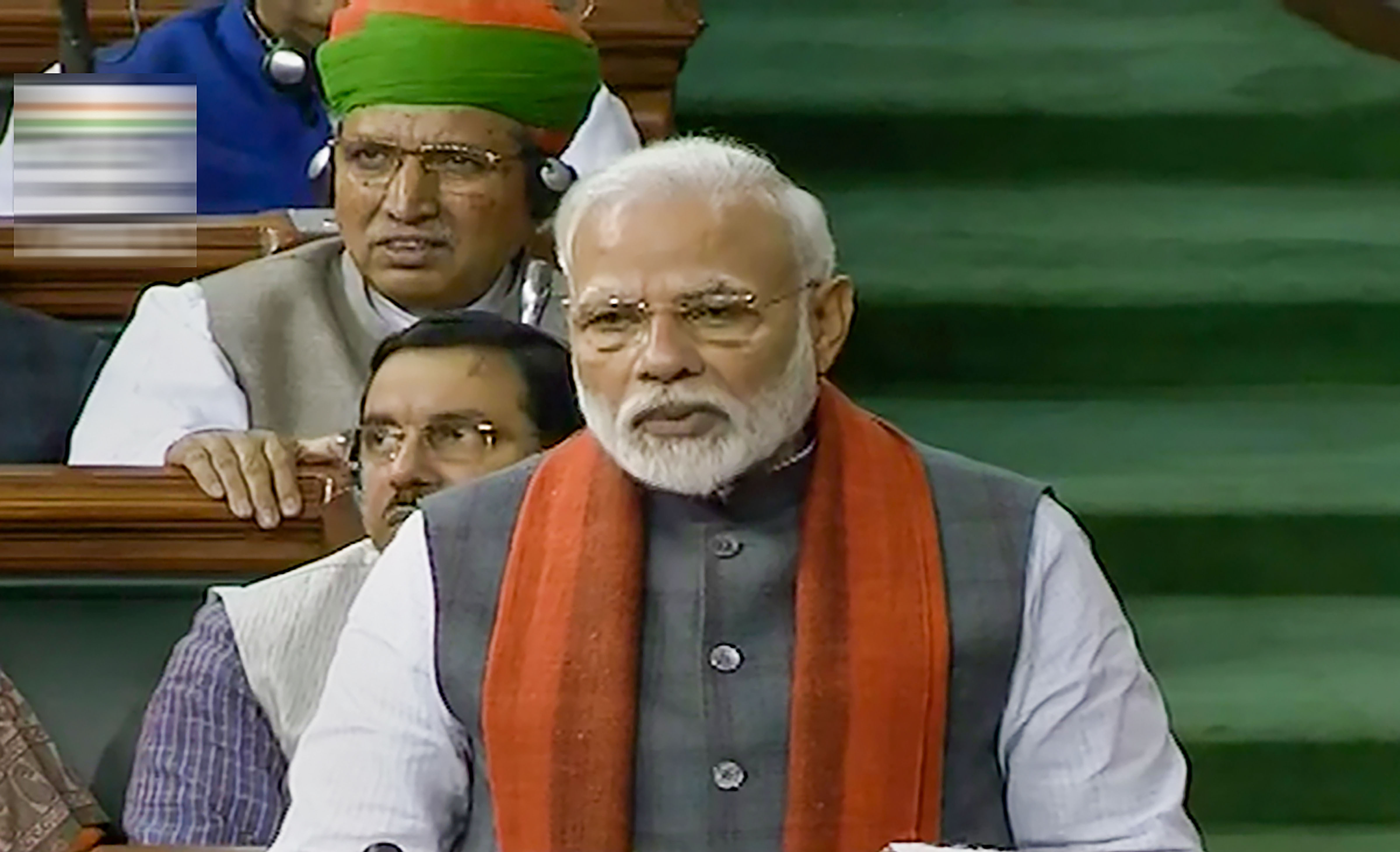 Prime Minister Narendra Modi announces the formation of a trust for the construction of a Ram Temple in Ayodhya in the Lok Sabha, during the ongoing Budget Session of Parliament in New Delhi, Wednesday, February 5, 2020