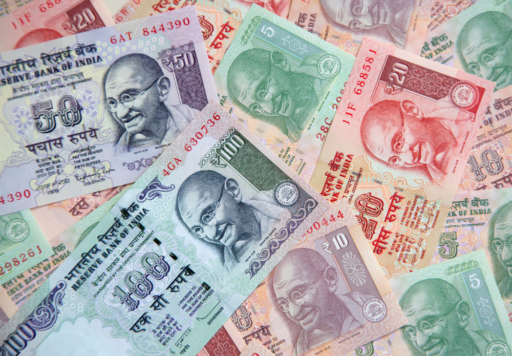 At the Interbank Foreign Exchange market, the domestic currency dropped 43 paise to 73.34 against the US dollar in the early trade.