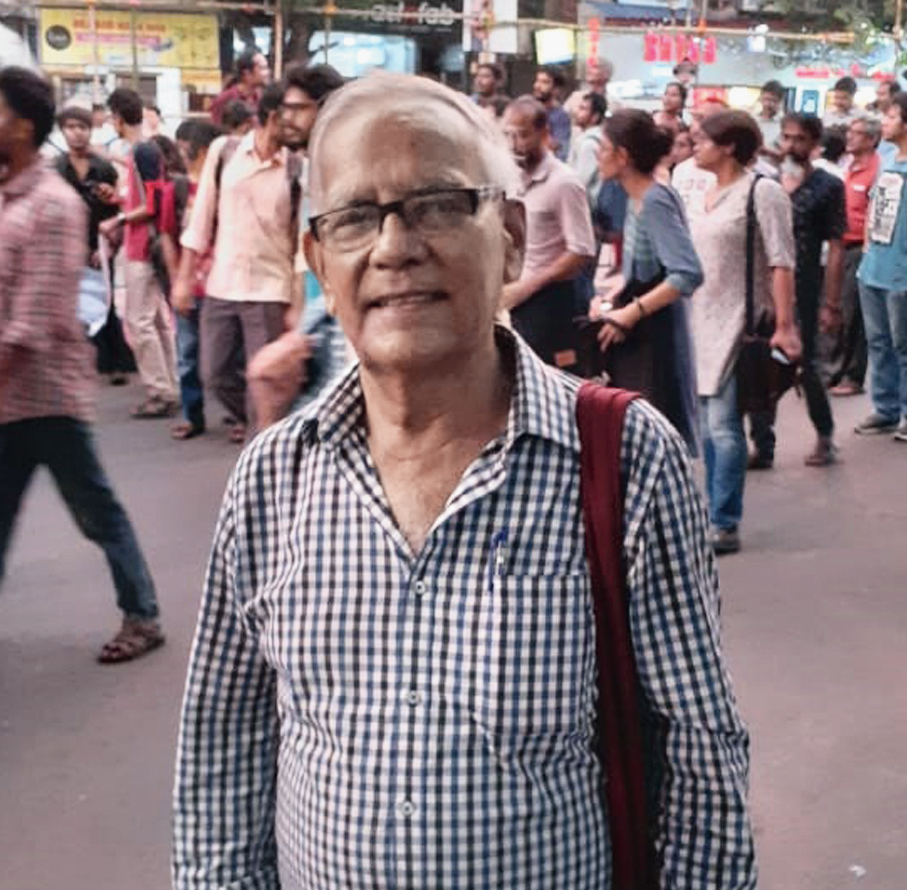 Octogenarian Amalendu Bhushan Chowdhury, probably the senior-most participant at the rally.