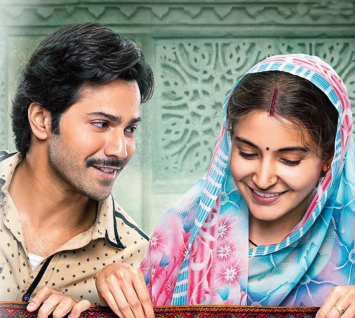 Varun Dhawan and Anushka Sharma in a still from the film.
